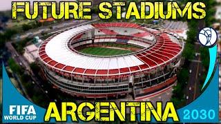 Mundial Argentina Uruguay 2030   Futuros estadios Argentinos