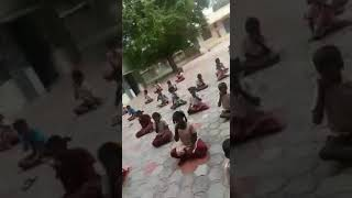 Madurai District - Thiruparankundram - Panaiyur Panchayat Union School Children Yoga Practice