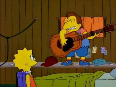 Nelson Muntz singing Joy To The World