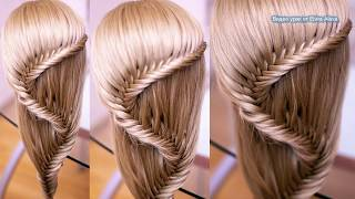 Причёска из косы  Коса Рыбий хвост  Hair tutorial  Peinado
