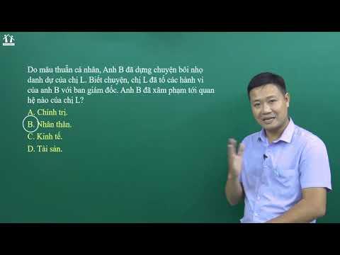 Chữa đề số 1 - Câu hỏi vận dụng - GDCD lớp 12 - Thầy Trần Văn Năng - PEN-I 2020