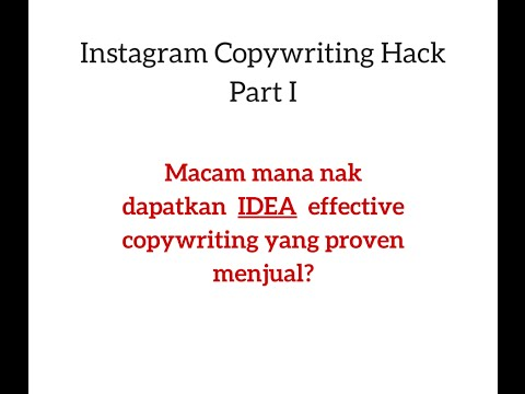 Instagram Copywriting Hack Part I
