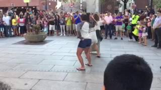 Women In Downtown Boston Dancing To Single Ladies