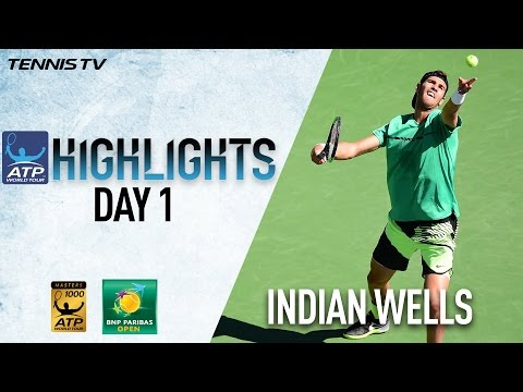 Highlights: Khachanov, Fratangelo Win At Indian Wells 2017 Thursday