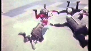 Freefall Skydiving in 1960s, filmed by Bob Allen