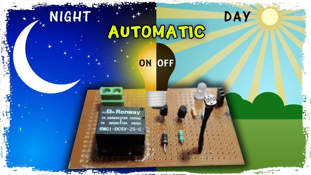 Automatic night light sensor | Dark Sensor | Day / Night ON / OFF ...