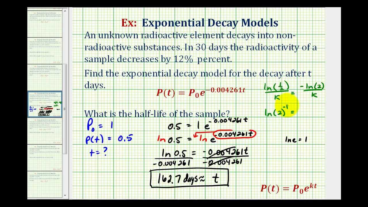 exponential growth and decay problems with answers pdf