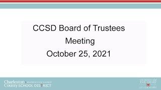 CCSD Board of Trustees Regular Meeting | October 25, 2021 screenshot 3