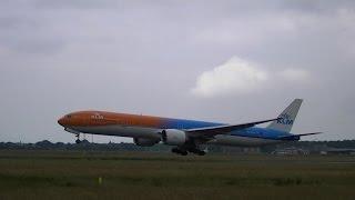 klm orange pride livery ph bva missed approach kl9851