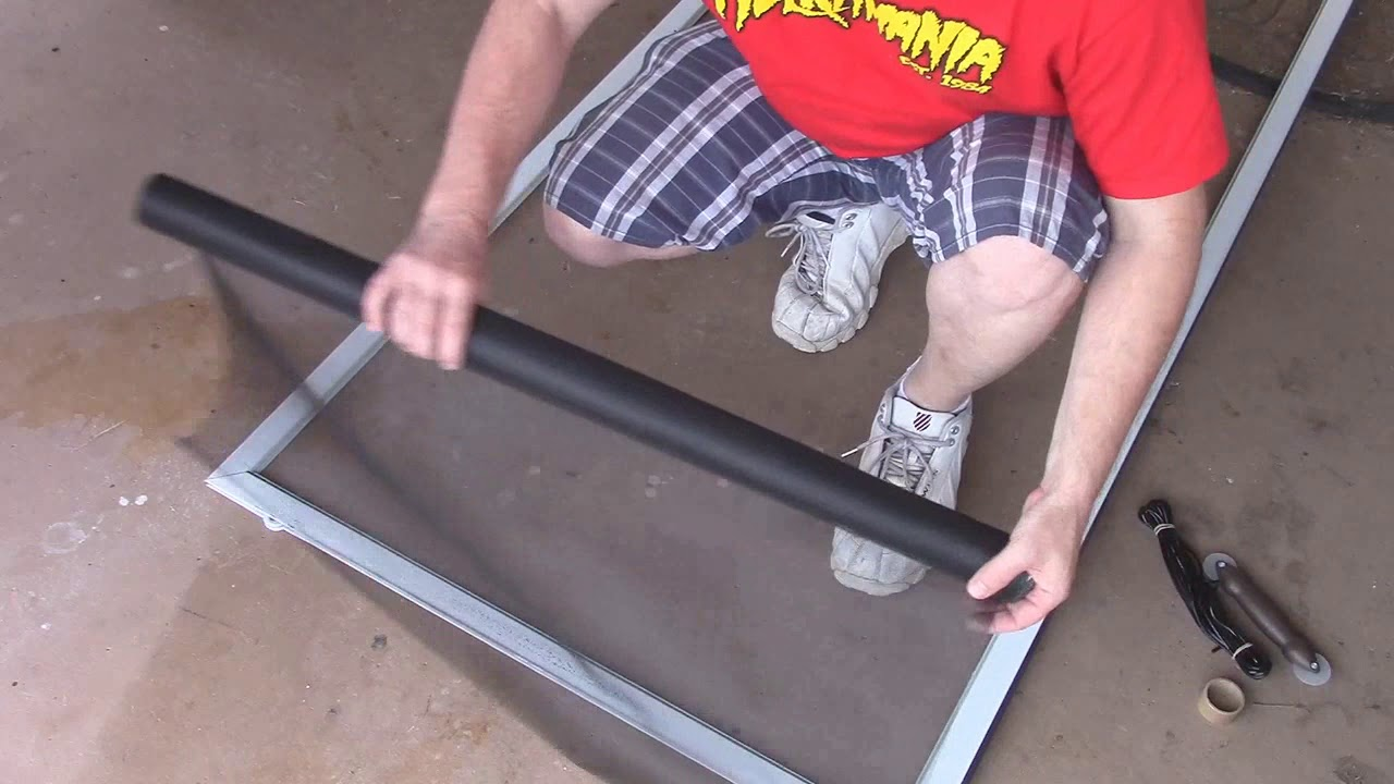 How To Replace The Screen On A Screen Door Youtube