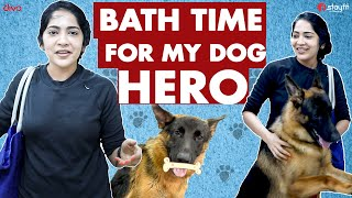 Bath Time for My Dog | Hero Mission Impossible with Ramya