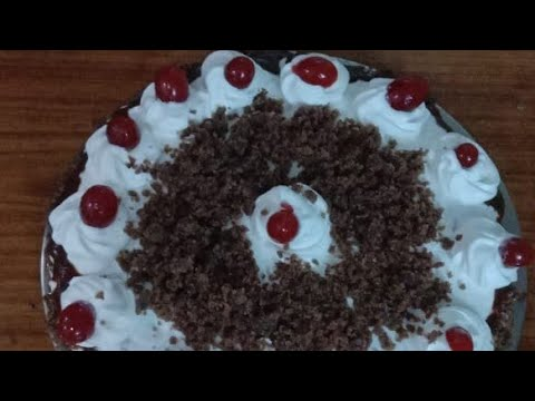 Black forest cake | eggless | without oven | with home ...