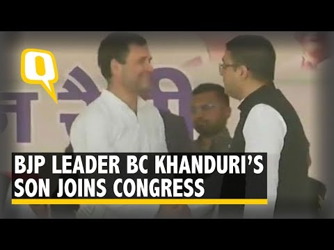 Uttarakhand: BJP leader BC Khanduri's Son Joins Congress in Presence of Rahul Gandhi