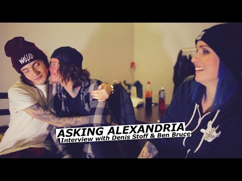 ASKING ALEXANDRIA interview with Denis Stoff & Ben Bruce - www.pitcam.tv