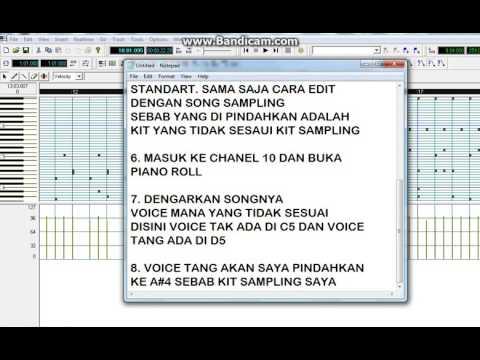 CARA EDIT MIDI ATAU SONG SAMPLING DENGAN APLIKASI CPA9