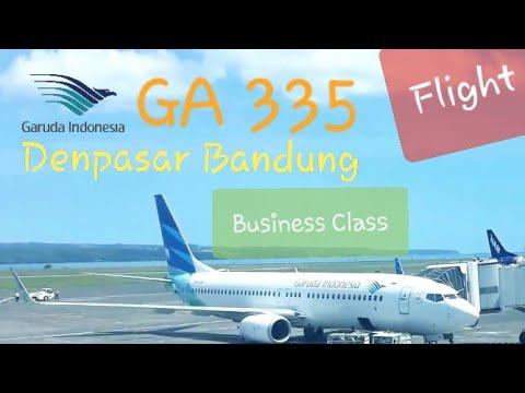 Business Class   Garuda Indonesia GA 335 Denpasar - Bandung   Boeing 737-800 Flight Experience