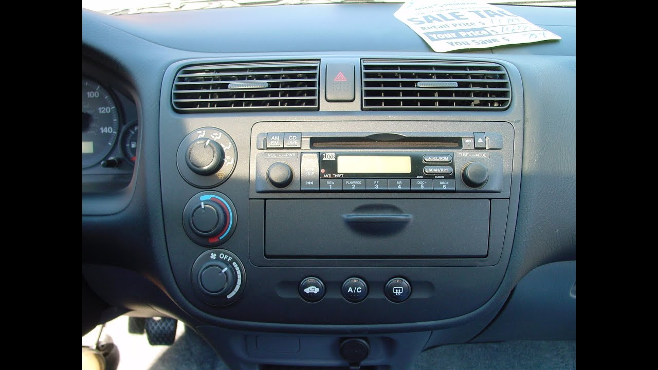 2003 Honda Accord Stereo Kit 2001 Radio
