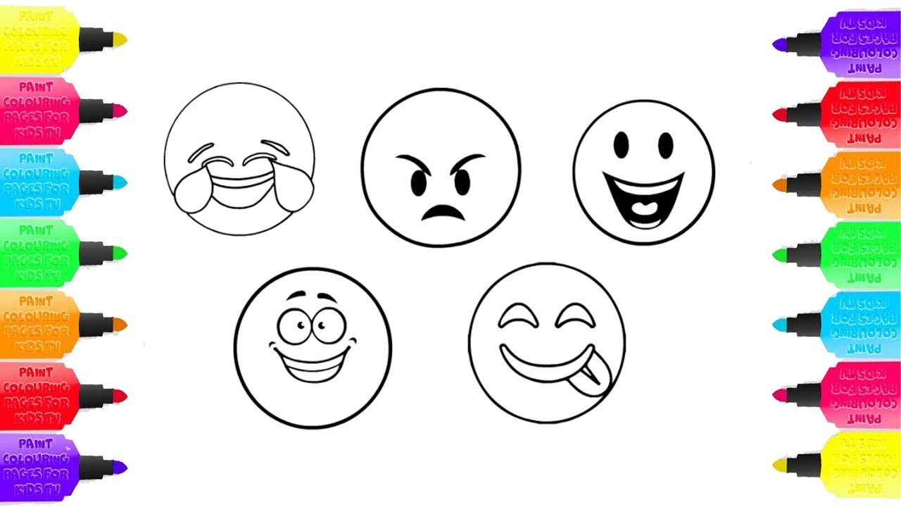 Childrens tv colouring pages - How To Draw Emoji Smileys Coloring Pages For Children Pipi Kids Tv