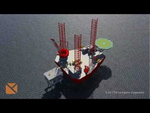 Liftboat by Levingston - A liftboat performing an offshore coil tubing.