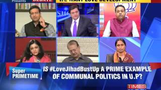 The Newshour Debate: Love Jihad Bust Up - Full Debate (14th Oct 2014)