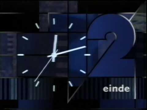Nederland 2 - closedown, met switch naar het mozaïek (1991)