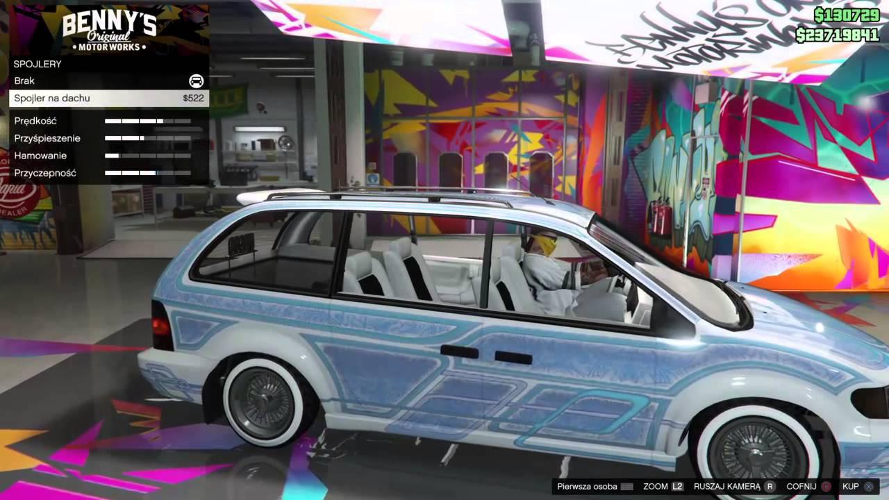 GTA V Online DLC Benny Lowrider Minivan Dodge Caravan Chlysler Voyager PS4 Xone
