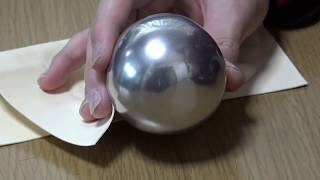 INCREDIBLE ALUMINUM FOIL BALL - AWESOME TIN FOIL BALL POLISHED