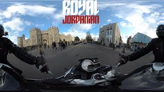 Windsor Castle in 360 on a BMW S1000R