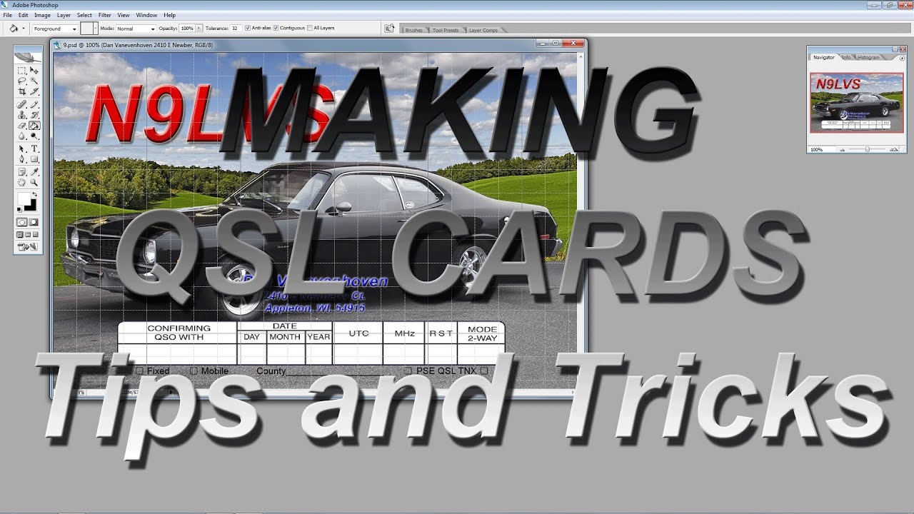 making qsl cards tips and tricks youtube. Black Bedroom Furniture Sets. Home Design Ideas
