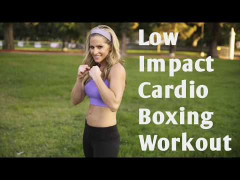 19 Minute Low Impact Beginner Cardio Boxing Workout for Fat Loss and Calorie Burn