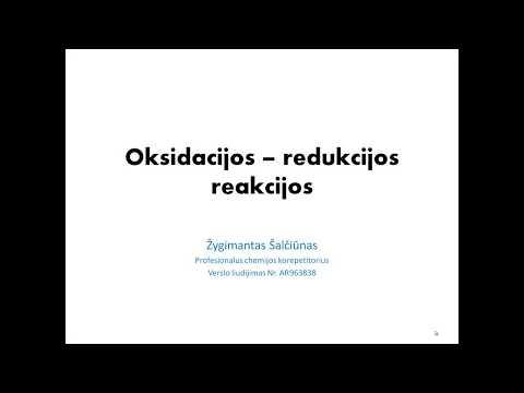 Oksidacijos redukcijos reakcijos