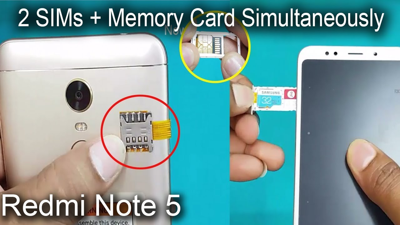 carte sim redmi note 5 Xiaomi Redmi Note 5   Dual sim & SD Card Simultaneously  How to