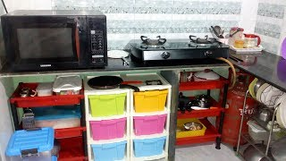 KITCHEN TOUR | SMALL INDIAN KITCHEN | ORGANIZE KITCHEN WITHOUT CABINETS | KITCHEN ORGANIZATION