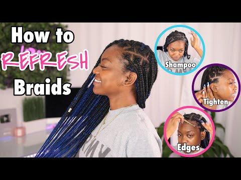 How to Refresh Knotless/Box Braids | Shampoo, Tighten, SLAY!