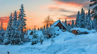 ⛄ Beautiful Winter Relaxing Music, Peaceful Soothing Instrumental  - Meditation   Sleep Music #21