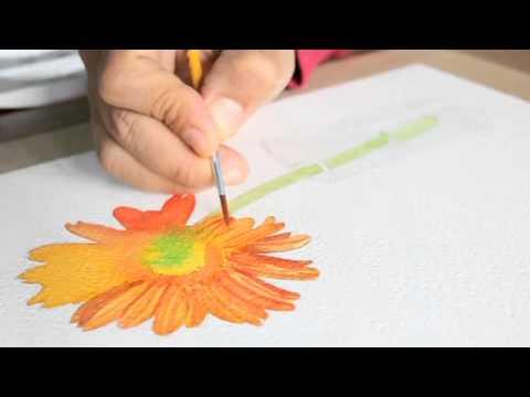 เรียนสีน้ำกับครูแหลม-ดอกไม้แสนงาม-