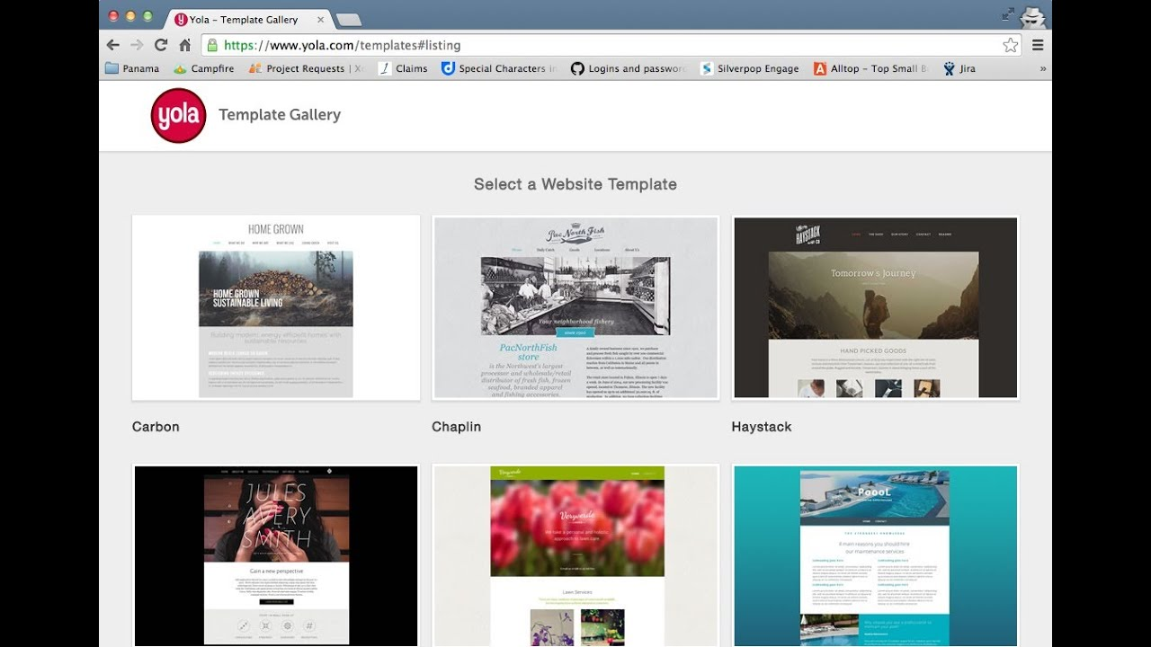 New Free Website Templates From The Yola Template Gallery