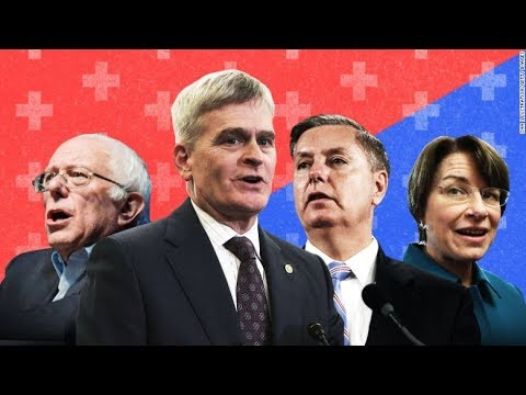 LIVE: CNN Healthcare Debate, Bernie & Klobuchar vs Graham & Cassidy