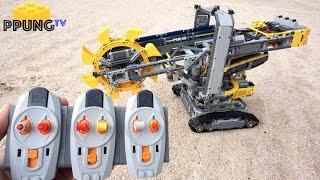 LEGO Technic 42055 RC Motorized Bucket Wheel Excavator(Full RC MOD) & building instructions by 뿡대디