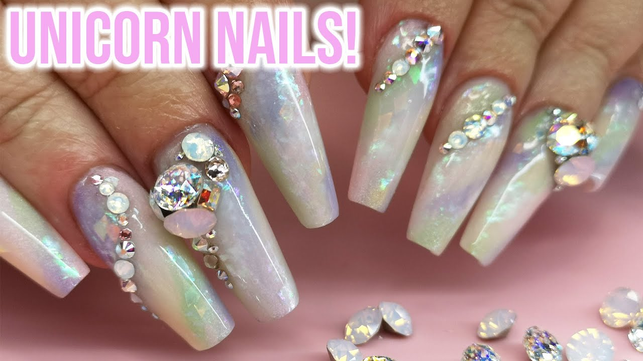 Andrea's First Nails Back | Unicorn Opal Nails
