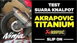 AKRAPOVIC TITANIUM SLIP ON NINJA 250/300