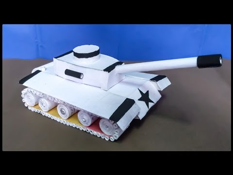 HOW TO MAKE BATTLE TANK / PAPER CRAFT IDEAS / PAPER ART AND PAPER DECORATION / CRAFT