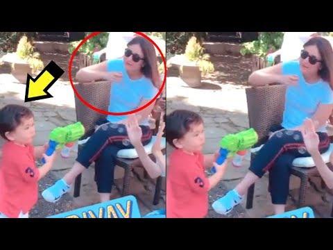 Taimur Ali Khan Blowing BUBBLE At Mommy Kareena Kapoor- VIDEO