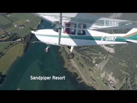 Flying Into Sandpiper Resort / Rowena's Inn