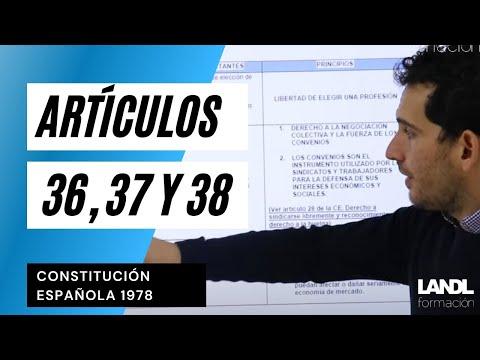 Artículos 36, 37 y 38 Constitución Española 1978
