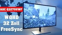Der BESTE Monitor für UNTER 200€ - WQHD, 32 Zoll, FreeSync, 75Hz
