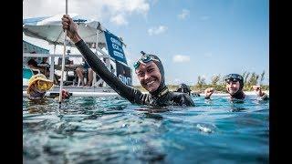 #VB2018 Alessia Zecchini World Record Dive to 93m FIM