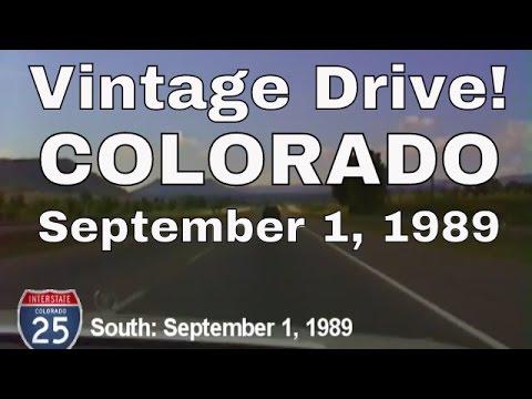 Vintage Colorado Drive South on I-25, September 1, 1989