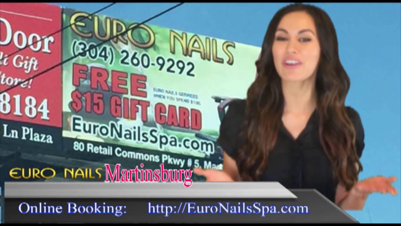 06/14/16 Nail Salon Martinsburg Euro Nails review - YouTube