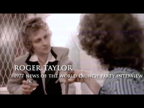 Roger Taylor  1977 News of the World Launch Party